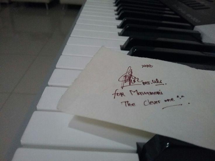 The autograph from my music teacher