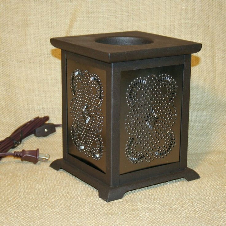 Electric Tart Warmer Punched Tin Diamond Pie Safe Country Primitive  #Unbranded