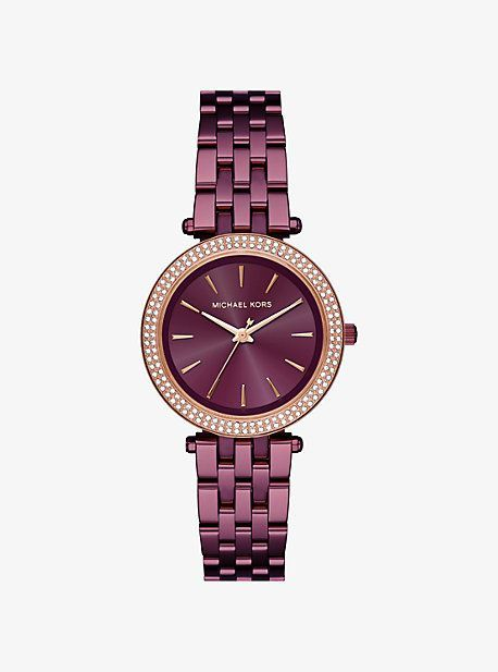 0fc02cf1acca Mini Darci Pavé Plum-Tone Watch