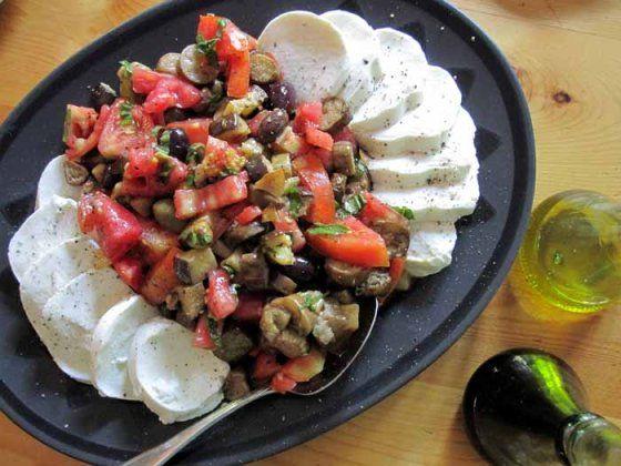 Eggplant #Insalata Caprese