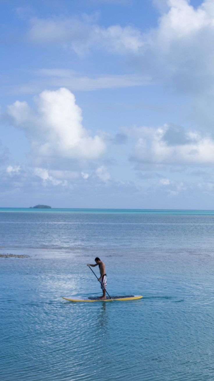 Paddle on and experience the wonderful blue lagoon of Aitutaki  grab your flippers and snorkel #aitutaki