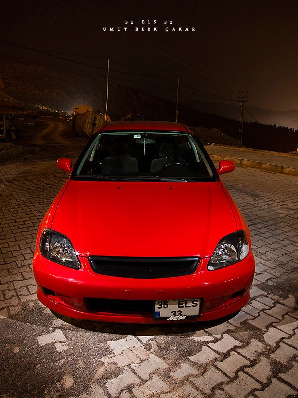 Red Honda Civic  #Honda #HondaCivic #HondaCars