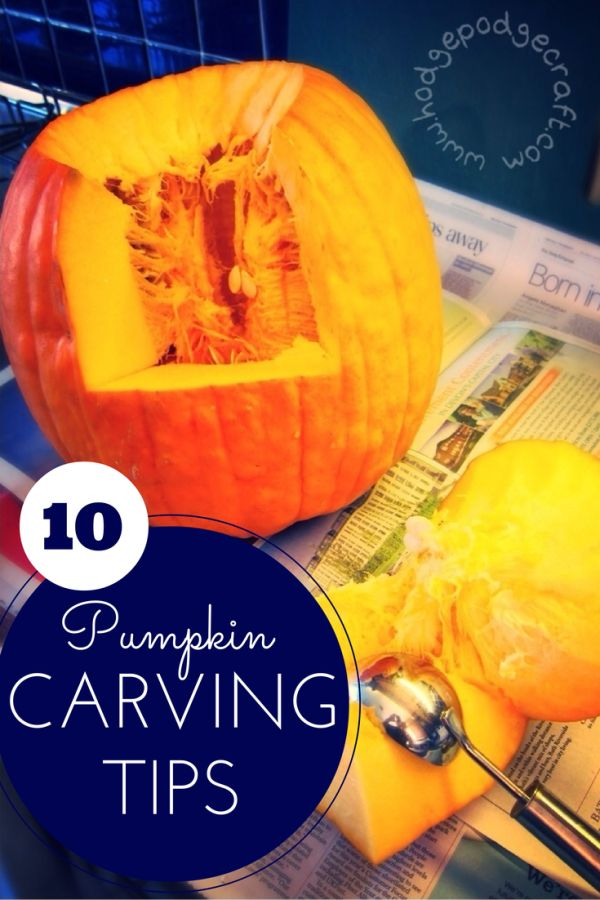 10 awesome pumpkin carving tips | Hodge Podge Craft