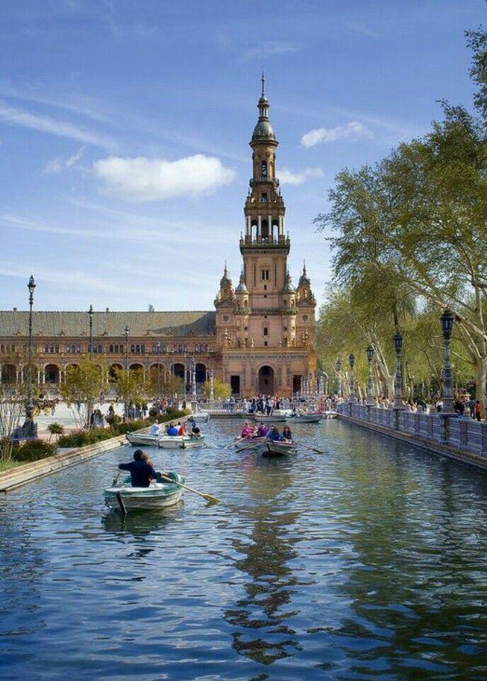 Plaza de España de Sevilla, España.
