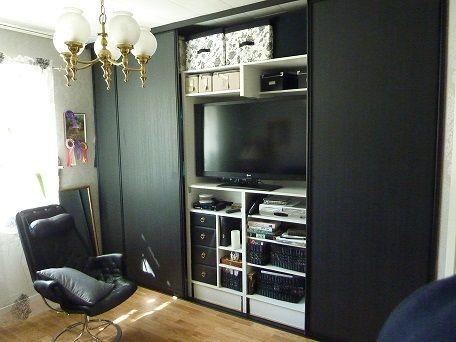 Bygga in TV i garderob