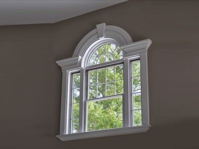 how to frame a half circle window - Google Search                                                                                                                                                                                 More