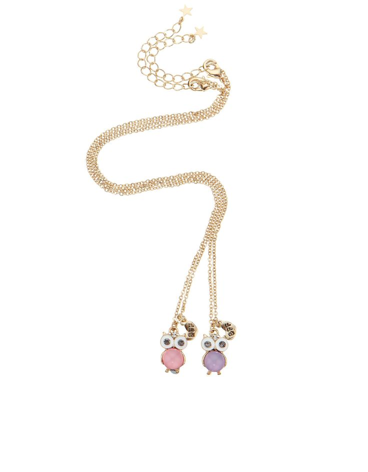 We love these owl necklaces, perfect for you and your BFF, at Accessorize!