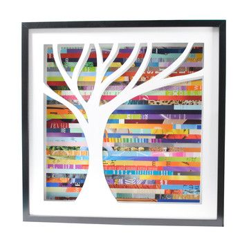 Bright Tree Shadowbox Large now featured on Fab.