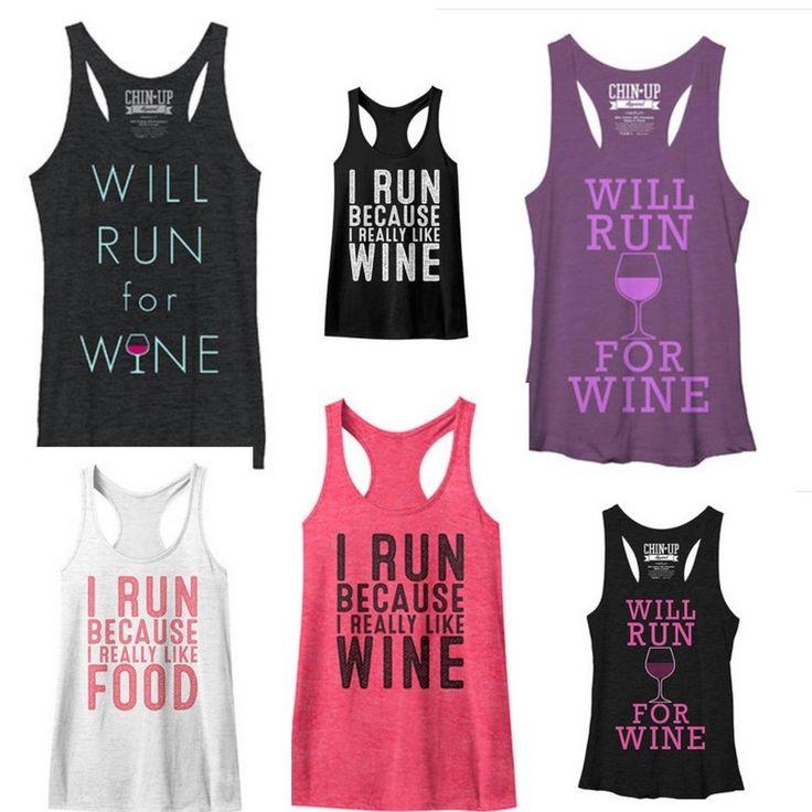 The best #irunforwine #workouttanks are on sale