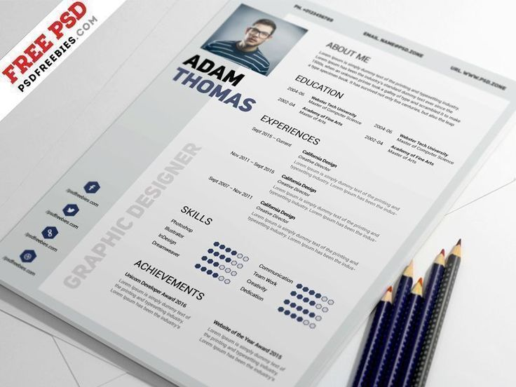 Download Clean Resume Design Template Free PSD. Clean Resume Design is best for the showing skills, work experience, education & other information when applying to new job. The Clean Resume CV can only be edited using Adobe Photoshop. It is A4 size print ready and available in CMYK colors with 300 DPI high resolution. Very easy to change text, colors, and to add or remove items.