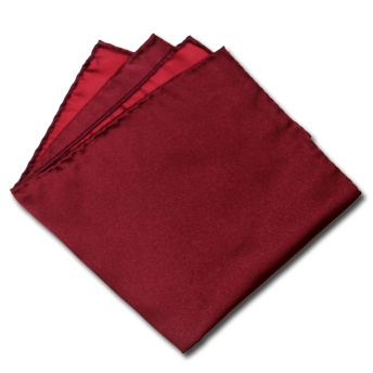 Handkerchief - Burgundy base, off-white flowers & burgundy edge Notch
