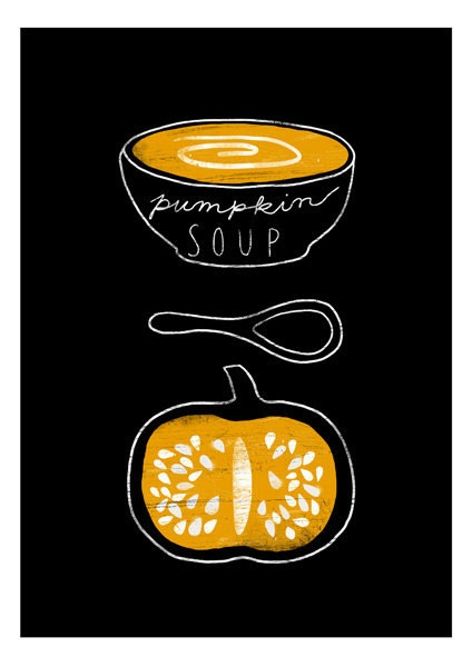 Pumpkin soup / illustration style
