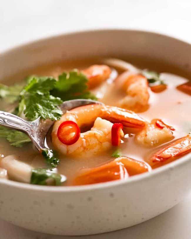 Tom Yum Soup Thai Soup Recipe Tom Yum Soup Recipetin Eats Asian Recipes