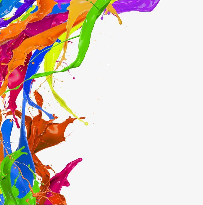 Free Splash Of Color Pigments Pull Png Image Png Free