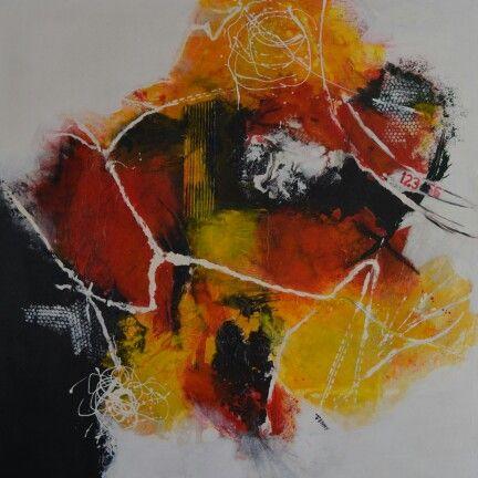 No.12 Kleurige moderne abstracte schilderijen, acrylverf op doek zonder lijst. Prijzen varieren tussen de 50 en  195 euro. Voor meer informatie neem contact op met schilderijen.Fenny@gmail.com