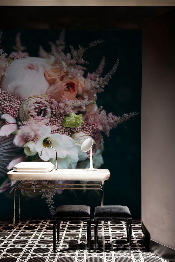 Flower Bouquet Wall Mural #wallmural #wallpaper #floral #flower #interiordesign #romantic #vintage
