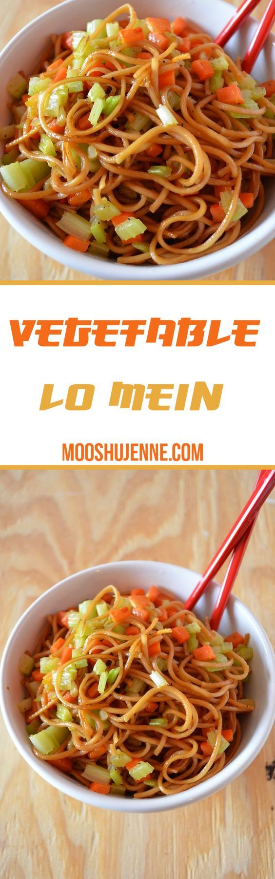 Vegetable lo mein is one the simplest dishes to me in Chinese cuisine. There is plenty of flavors. You can add whatever you would like IE: mushrooms, carrots, snow peas, peas, celery, or whatever meat you choose.