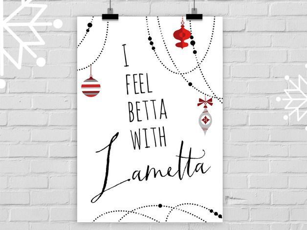 Lustiges Spruchposter mit Illustration für Weihnachten / funny saying, artprint for your christmas home decor made by Prints Eisenherz via DaWanda.com