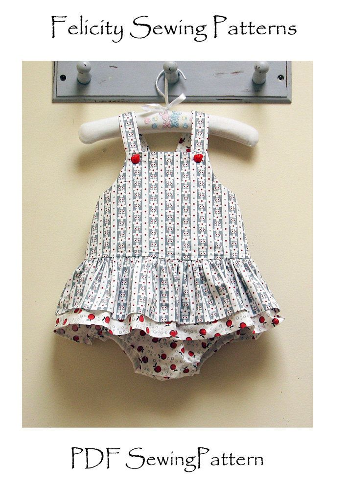 Baby Romper pdf sewing pattern baby girls by FelicityPatterns
