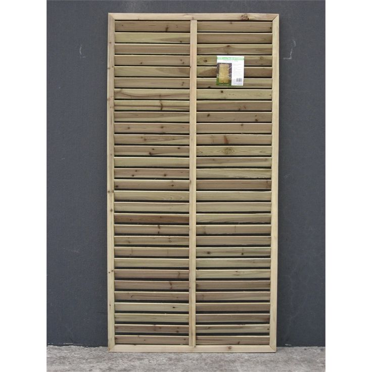 Screen Panel Timber 1800x900x35mm Vertical Louvre - Bunnings Warehouse - different colour tone
