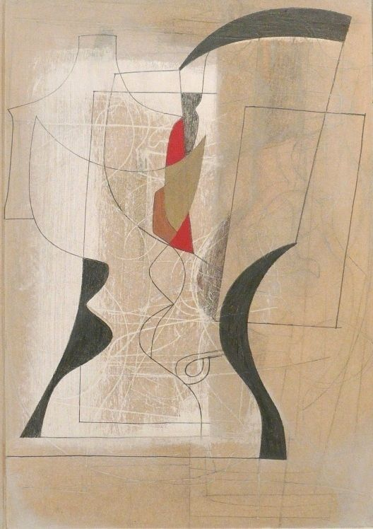 July 1955 (HB silver) - Ben Nicholson - Paintings