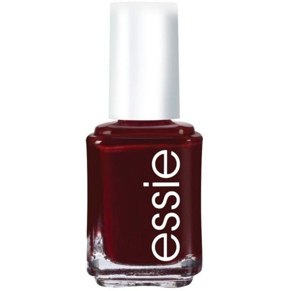Essie Bordeaux Nail Color (£5.62) ❤ liked on Polyvore featuring beauty products, nail care, nail polish, nails, beauty, essie, makeup, bordeaux, pastel nail polish and essie nail polish