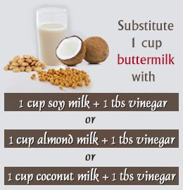 Vegan Buttermilk Substitutes