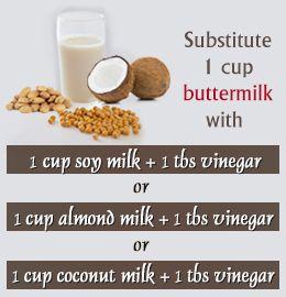 Vegan Buttermilk Substitutes