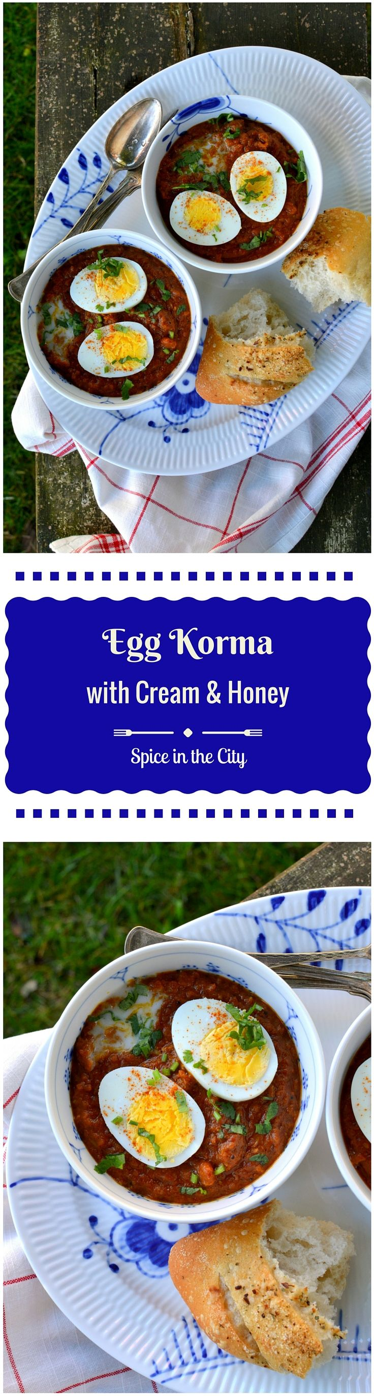 Egg Korma with Cream and Honey | Spice in the City: A fabulous curry of hard-boiled eggs in a velvety sauce resplendent with spices and rich with cream and a hint of honey!