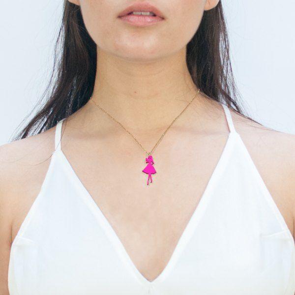 #Zazzy #3dprinted Fahion Doll Necklace by Elena Indolfi