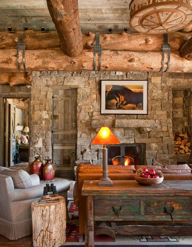 Log Cabin Living, Cozy Family Rooms, Cabin