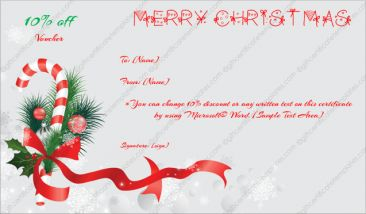 Permalink to Christmas Gift Certificate Template 6