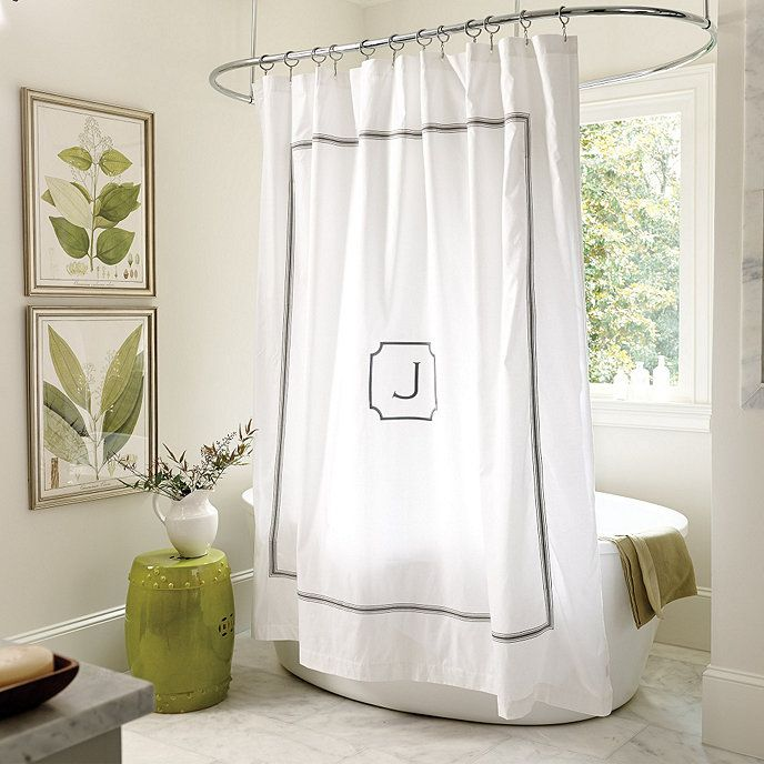 Amelie Embroidered Shower Curtain Gray Shower Curtains Burlap