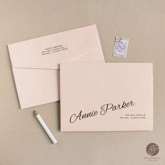 Instant Download  Peach  DIY Envelope Template by SwellAndGrand, $9.00