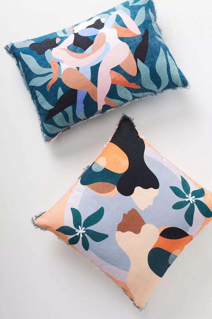 Bed Cushions, Throw Pillows, Throw Blankets, Accent Pillows, Felt Pillow, Room Wall Decor, Floral Motif, Printed Cotton, Decorative Pillows
