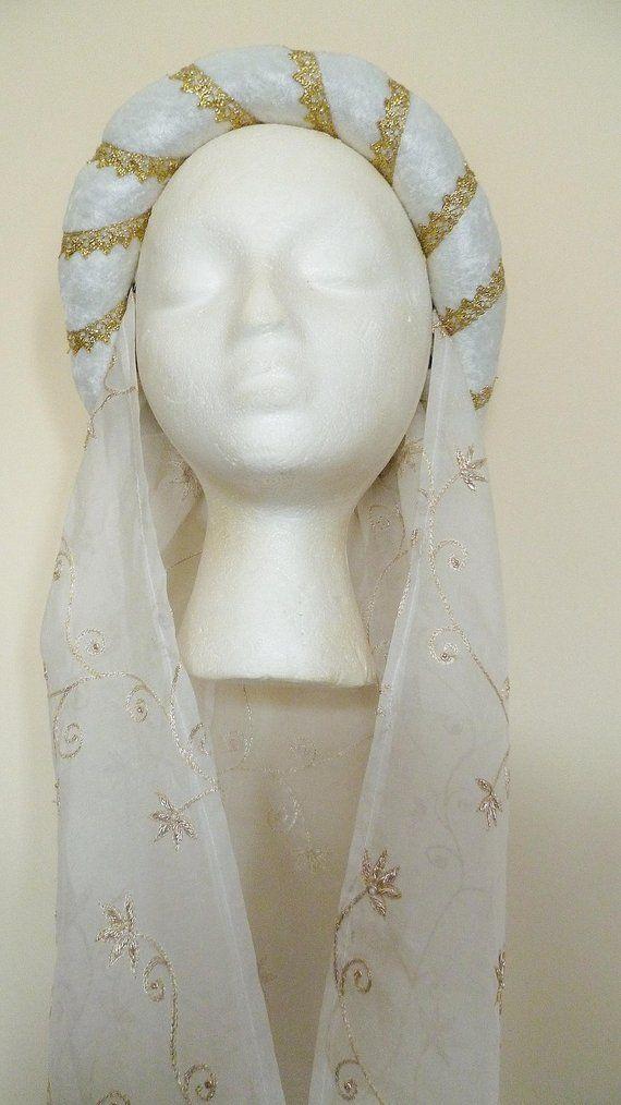 pagan Headpiece Gothic Circlet Renaissance Circlet Red Medieval Headdress Wedding Headdress