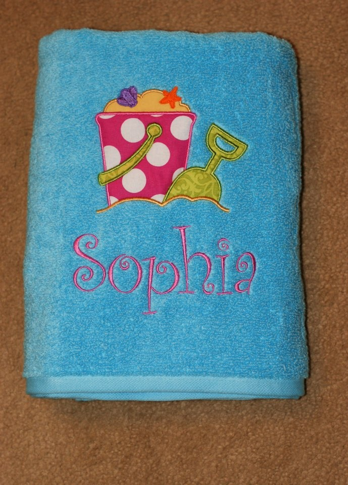 Monogrammed & Appliqued beach towel!! LOVE! get yours at L.M.N.O.P on facebook!