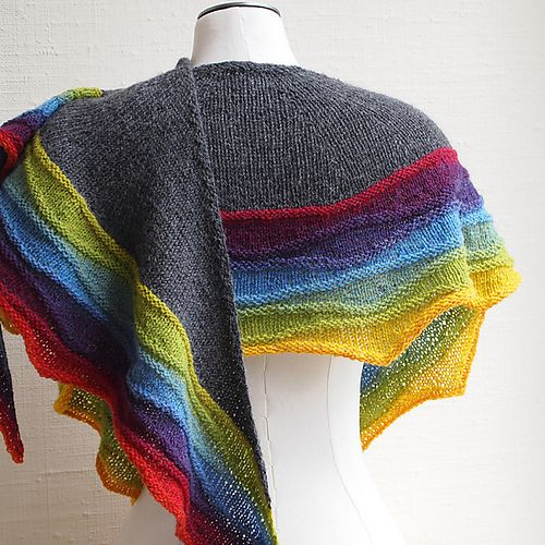 Ravelry: LightWaves pattern by Susan Ashcroft Gray and Rainbow again - always a good choice for knitting projects.