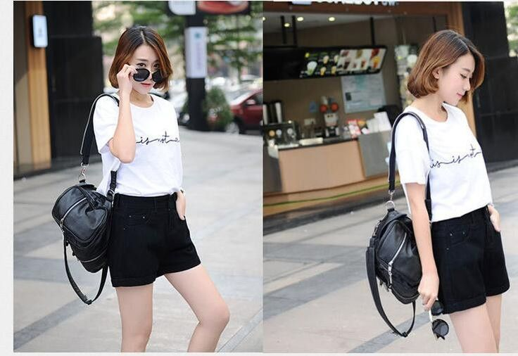 High Waist Curling Denim Shorts Sexy Hot Shorts Womens Clothing Trousers Short http://www.braceletstyle.com