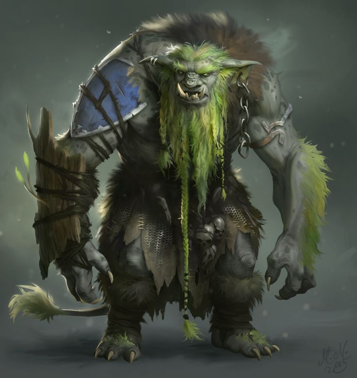 """One of the """"Sylvan-touched"""" Ogres, ones whom come in contact with the magical fae of the Elven Woods often are changed"""