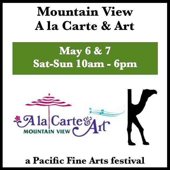 Come see me and The KAMEL at Mountain View A la Carte & Art with @pacificfinearts .  When: May 6 & 7 2017 .  10am to 6pm .  Location: Castro Street in downtown Mountain View CA .  The San Francisco Bay Areas hugely popular outdoor festival season officially kicks-off in Mountain View where cool vibrant Castro Street morphs into a moveable feast of people and colorful tents for the 19th Annual A la Carte & Art. Throngs of visitors are expected to gather in Silicon Valleys epicenter for this…