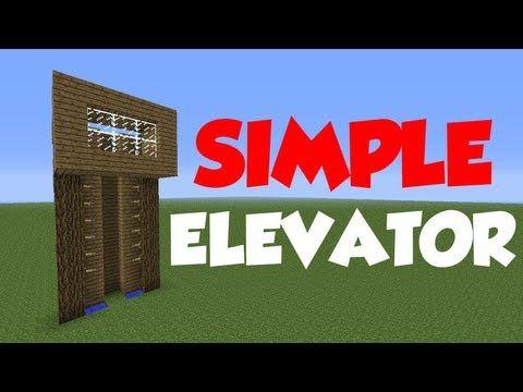 minecraft 16 redstone tutorial simple elevator youtube