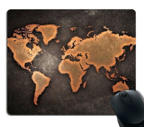 Vintage World Map Mouse Pad Retro Antique Computer Laptop Accessories Gifts Gift  | eBay
