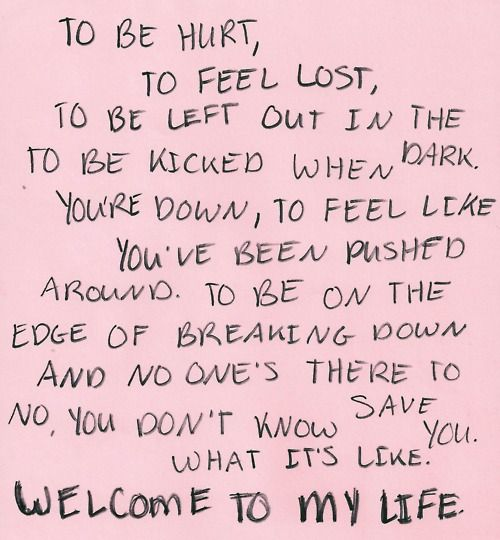 Welcome to My Life ♥ -Simple Plan