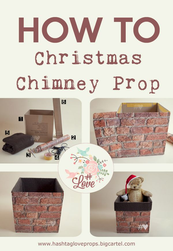 How to make a Christmas chimney photography prop