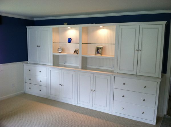 Custom Wall Units | Back Room Decorating Ideas | Pinterest