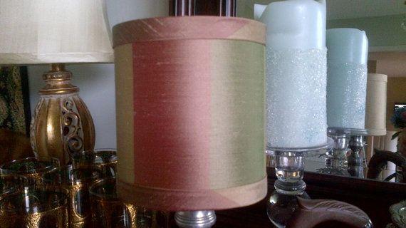 Drum chandelier lampshade stripe dupioni silk wall by simplyshades, $20.00