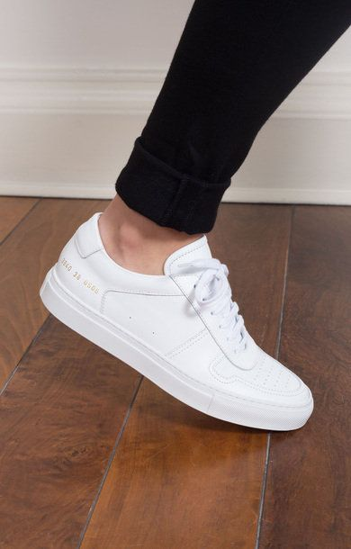 Size 36 ll White Woman By Common Projects Women Bball Low Top Sneaker