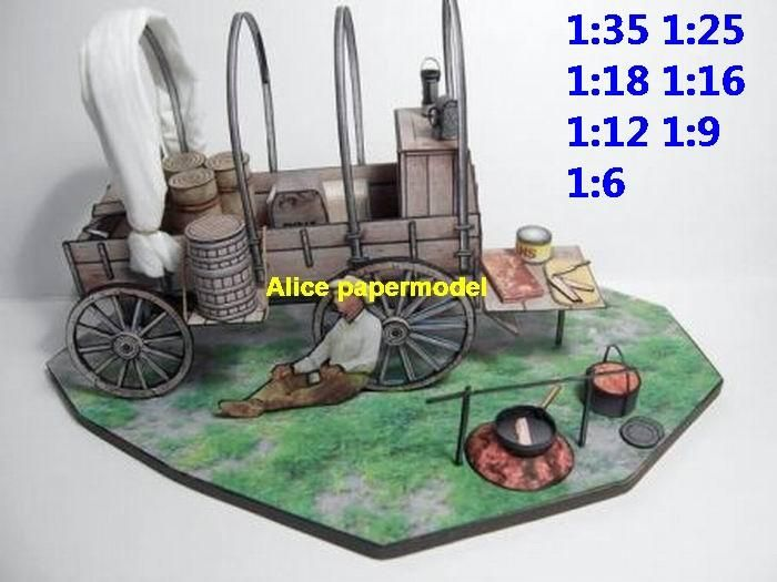 Alice papermodel]1:35 1:18 1:12 1:6 scale USA US westworld