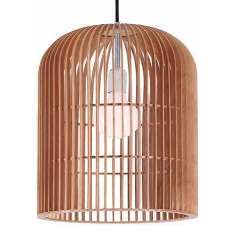 Geometric Cylinder Plywood Pendant Light